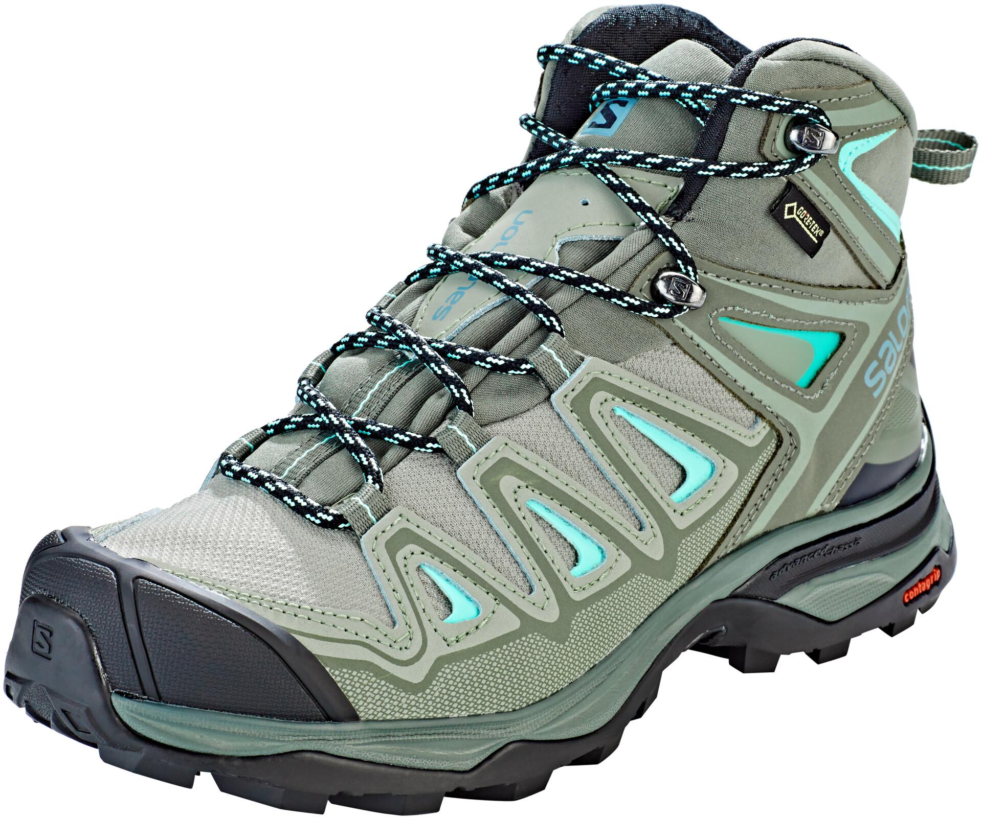 Salomon X Ultra 3 Mid GTX Shoes Damen shadowcastor graybeach glass